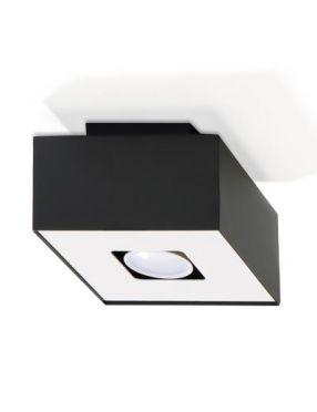 Lampa plafon tuba natynkowa metalowa czarna Mono 1 Sollux SL.0070