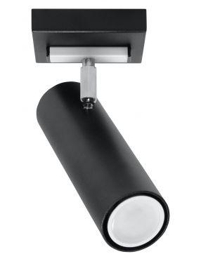 Lampa sufitowa spot reflektorek Direzione 1 czarny Sollux SL.0499