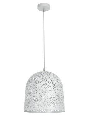 Lampa wisząca pojedyncza ażurowa biała Gerda Rabalux 5910