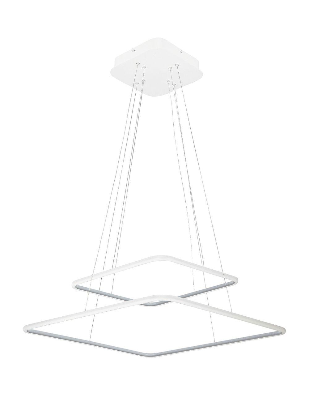 Nowoczesna lampa wisząca ledowa ring kwadratowa biała Donatella Rabalux 2546
