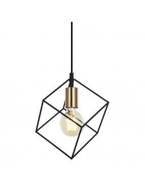 Lampa wisząca pojedyncza druciaki loftowa Morestel Italux MDM-4244/1 BK+BRO