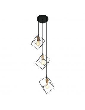 Lampa wisząca druciana kaskada  Morestel Italux MDM-4244/3 BK+BRO