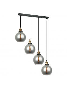 Lampa wisząca szklana loftowa Italux Cardena 4 Italux MDM-4330/4 GD+SG