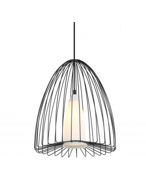 Lampa wisząca pojedyncza druciana loftowa  Lexi Italux MDM-4017/1 BK