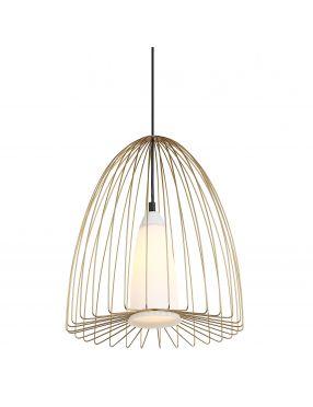 Lampa wisząca pojedyncza druciana loftowa złota Lexi Italux MDM-4017/1 GD