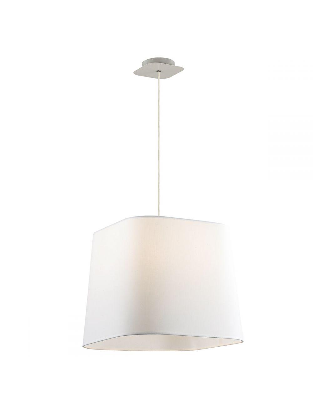 Lampa wisząca z abażurem biała Mito Italux MA04581C-001-01