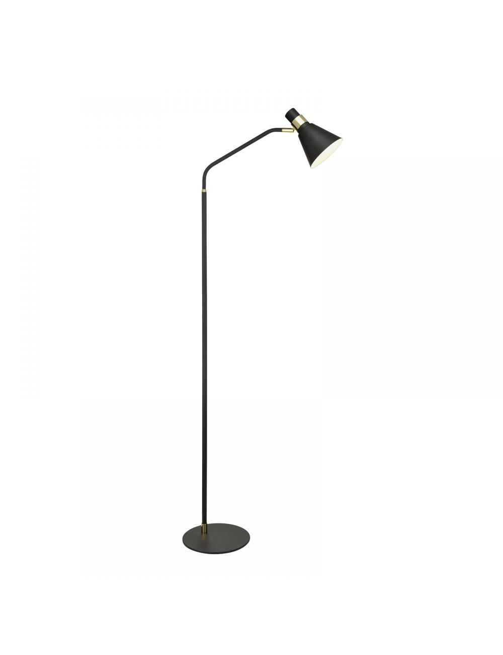 Lampa stojąca metalowa czarna loftowa Biagio Italux ML-H16079BFLK-1
