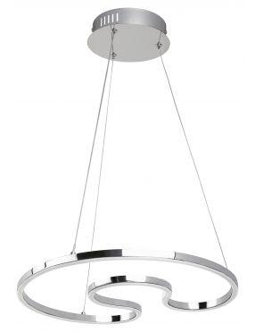Nowoczesna lampa wisząca ledowa chromowa Melora Rabalux 2190