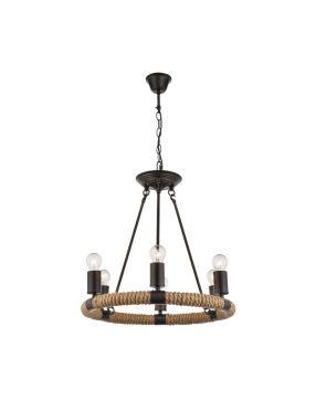 Lampa wisząca okrągła z linami loft Ulleu Globo 69029-6