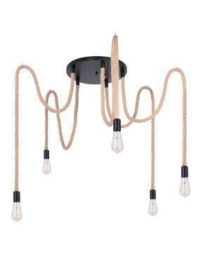 Lampa wisząca loftowa 5 sznurki pająk Ulleu Globo 69029-5H