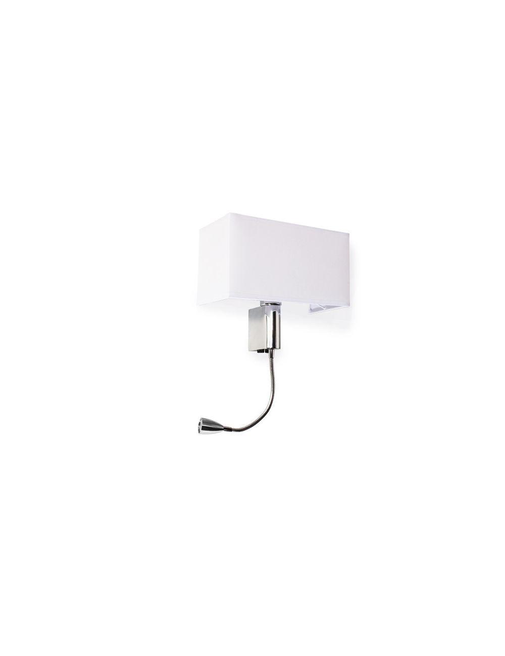 Kinkiet na ściane z abażurem i flexem ruchomy Amadeo Square  Azzardo  SN-6314S-LED