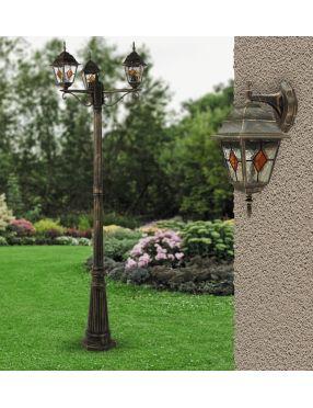 Lampa stojąca zewnętrzna  maszt patyna Monaco Rabalux 8186
