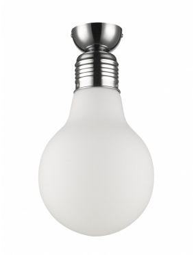 Lampa plafon sufitowy szklany żarówka Flo KR 153-1 Flo Krislamp