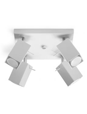 Plafon sufitowy ruchomy reflektorek biały 4 Merida Sollux SL0098