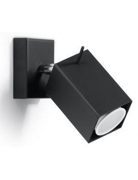 Kinkiet ścienny ruchomy reflektorek czarny 1 Merida 1 Sollux SL0099