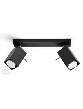 Kinkiet ścienny ruchomy reflektorek czarny 2 Merida Sollux SL0100