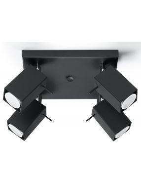 Plafon sufitowy ruchomy reflektorek czarnt 4 Merida Sollux SL0102
