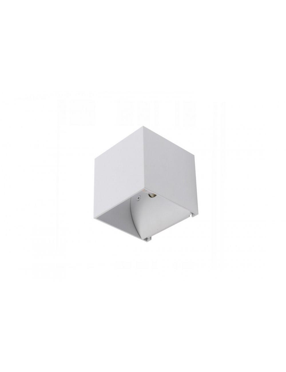 Kinkiet kwadratowy metalowy kostka MARS biały Azzardo AZ0896
