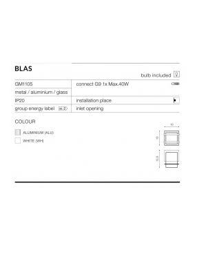 Kinkiet kwadratowy kostka Blas aluminium  Azzardo AZ0864