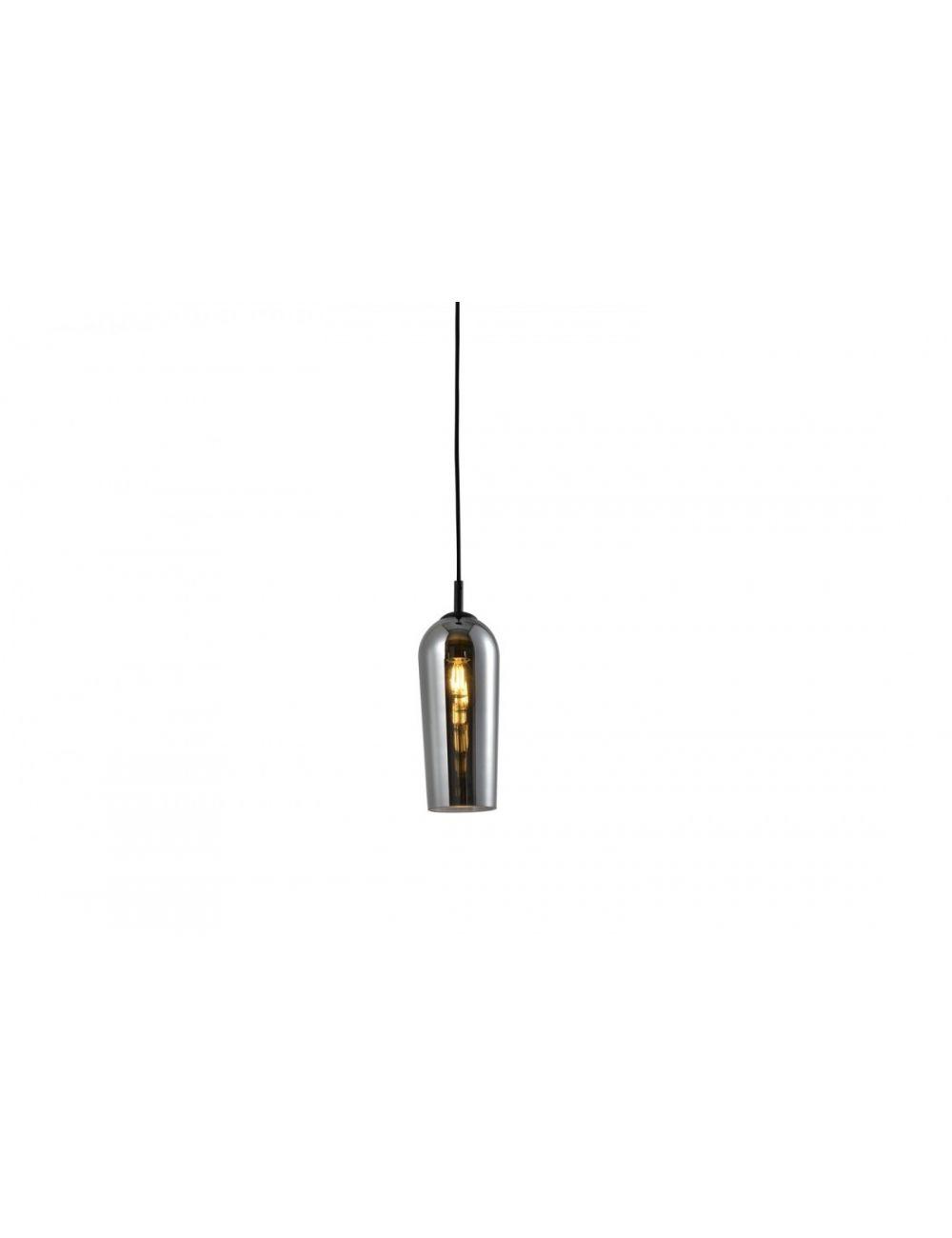 Lampa wisząca pojedyncza nowoczesna dymione szkło Blanca 3 Azzardo AZ3335