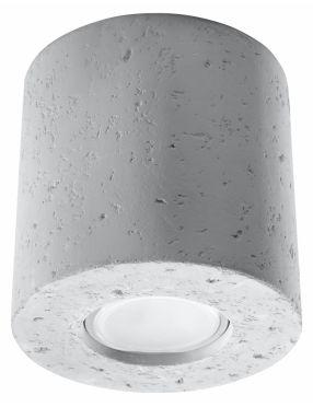 Lampa tuba natynkowa okrągła betonowa Orbis Sollux SL.0488