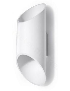 Kinkiet ścienny podwójny tuba metalowa  biały 2 Penne  Sollux SL.0108