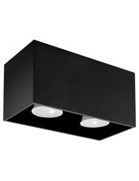 Lampa plafon sufitowy prostokatny metalowy kostka czarny Quad Sollux SL.0381