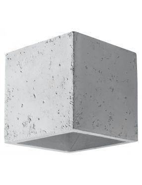 Kinkiet ścienny kwadratowy betonowy kostka Quad  Sollux SL.0487