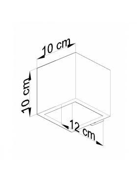 Kinkiet ścienny drewniany kostka kwadratowy Quad Sollux SL.0491