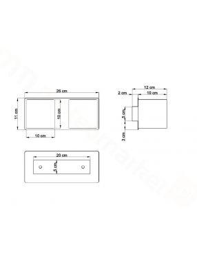 Kinkiet ścienny metalowy podwójny szary Quad Sollux SL.0658