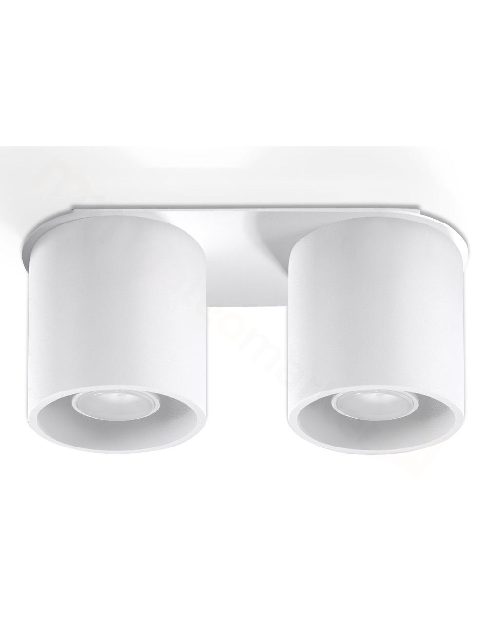 Lampa plafon sufitowy podwójny metalowy owal biały Orbis Sollux SL.0056