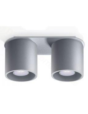 Lampa plafon sufitowy podwójny metalowy owal szary Orbis Sollux SL.0055