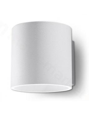 Kinkiet ścienny metalowy okrągły biały Orbis Sollux SL.0050