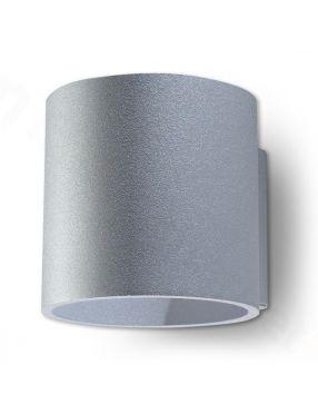 Kinkiet ścienny metalowy okrągły szary Orbis Sollux SL.0049
