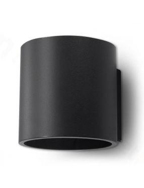 Kinkiet ścienny metalowy okrągły czarny Orbis Sollux SL.0048