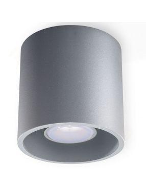 Lampa plafon sufitowy okragły metalowy walec szary Orbis Sollux SL.0018
