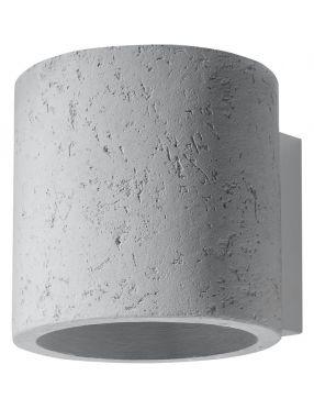Kinkiet ścienny okrągły betonowy owal Orbis  Sollux SL.0486