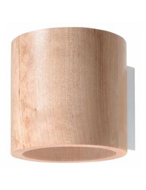 Kinkiet ścienny okrągły drewniany owal Orbis  Sollux SL.0490