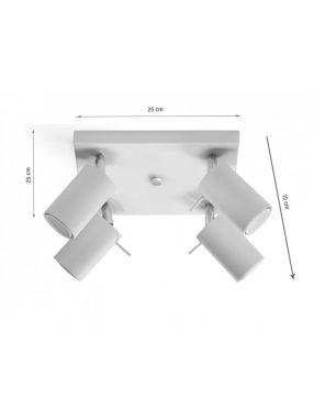 Plafon sufitowy ruchomy reflektorek szary 4 Ring Sollux SL.0452