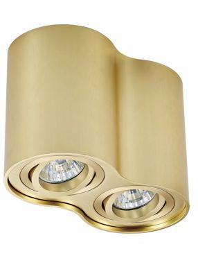 Lampa plafon tuba podwójna metalowa natynkowa okrągła Rondoo 2 złota Zuma Line