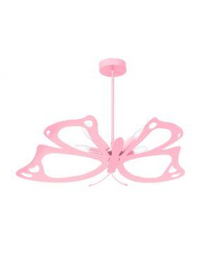 Lampa wisząca dziecięca różowa  plafon Motyl MLP4939