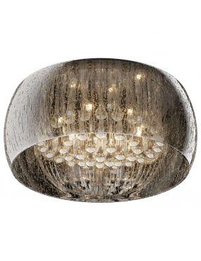 Lampa plafon sufitowy noczesny z kryształkami chromowy szklany Rain 50 ZumaLine C0076-06X-F4K9