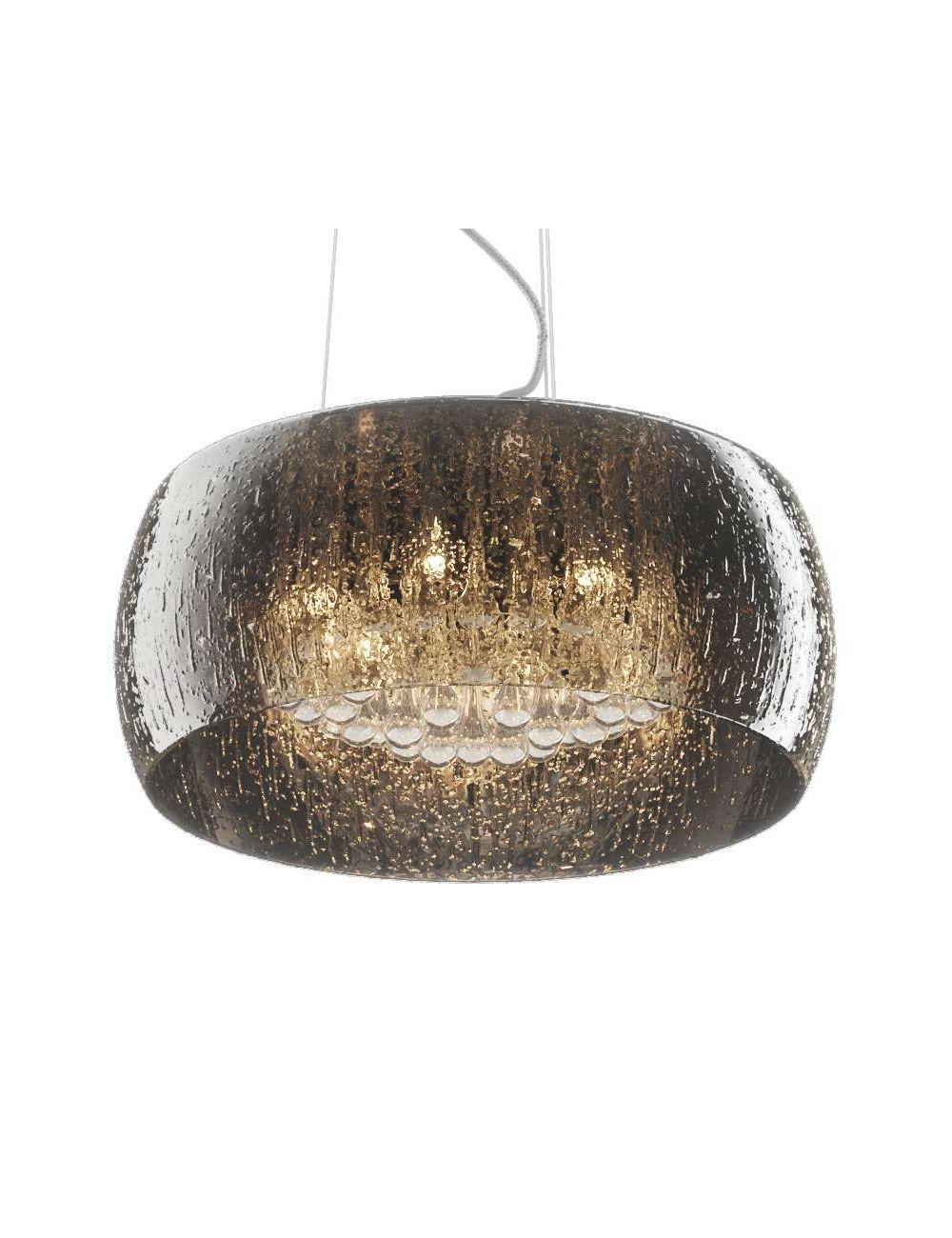 Lampa wisząca sufitowa noczesna z kryształkami chromowa szklana Rain 50 ZumaLine P0076-06X-F4K9