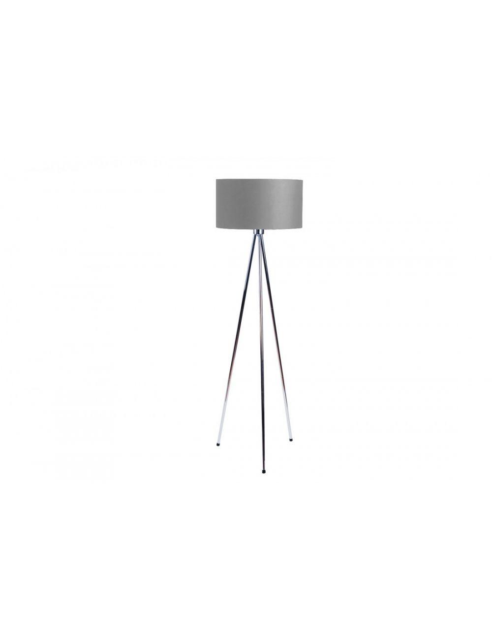 Lampa podłogowa stojąca trojnóg z abażurem popielatym Finn Azzardo AZ2967