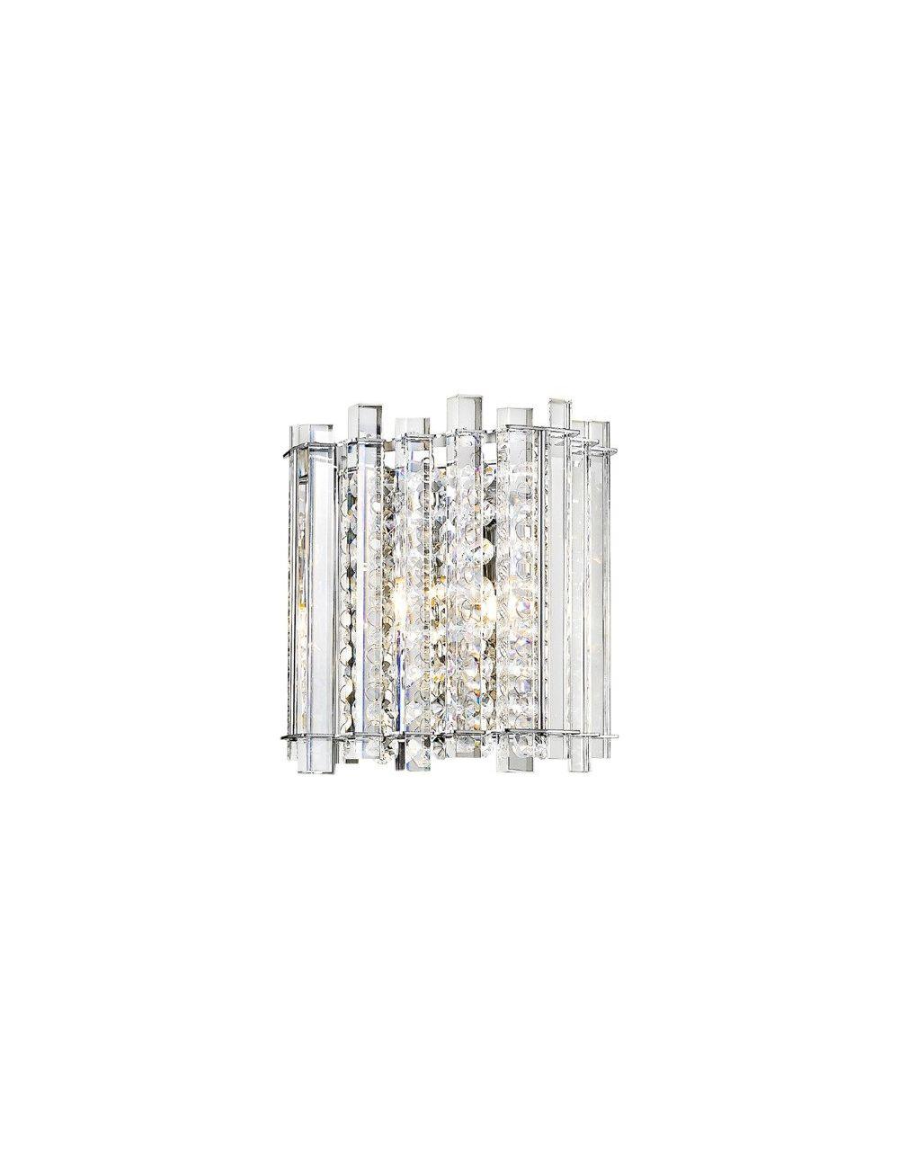 Kinkiet ścienny kryształowy nowoczesny szklany Ventus ZumaLine W0465-01B-B5AC