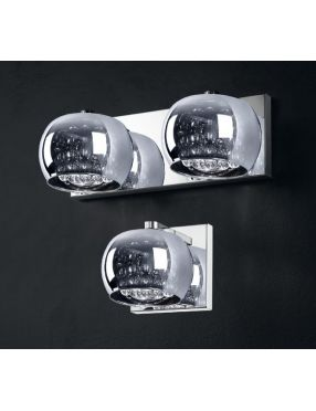Kinkiet nowoczesny kryształowy szklany Crystal glamour  ZumaLine W0076-01A-B5FZ