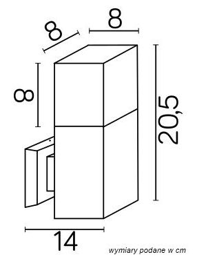 Kinkiet ścienny ogrodowy antracyt Cube Su-ma CB-K DG