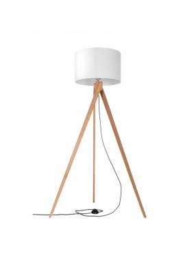 Lampa stojąca drewniana z abażurem Legno Sollux SL.0524