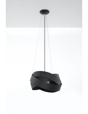 Lampa wisząca nowoczesna metalowa ring czarna Mobius Sollux SL.0415