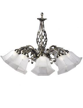 5192811 Wella lampa wisząca 8pł patyna